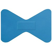 Click Medical Detectable Fingertip Plasters, 60 x 40mm, Blue, Pack of 50