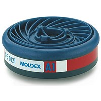Moldex A1 7000/9000 Particulate Filter, EasyLock System, Blue, Pack of 5
