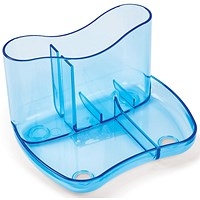Contemporary Desk Tidy with 4 Compartments - Blue