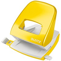 Leitz NeXXt WOW Hole Punch, Yellow, Punch capacity: 30 Sheets