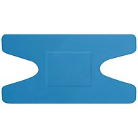 Click Medical Detectable Knuckle Plasters, 74 x 38mm, Blue, Pack of 50