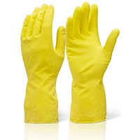 Click 2000 Household Gloves, Medium Weight, Large, Yellow, Pack of 10