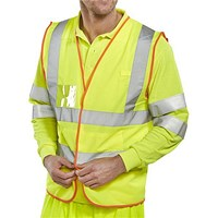 B-Safe Hi-Visibility Pre-Pack Multipurpose Vest, Reflective, Extra Large, Yellow