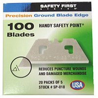 Pacific Handy Cutter Safety Point Blades, Silver, Pack of 100