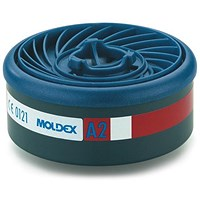 Moldex A2 7000/9000 Particulate Filter, EasyLock System, Blue, Pack of 4
