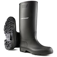 Dunlop Pricemaster Wellington Boots, Size 4, Black