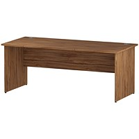 Trexus 1800mm Rectangular Desk, Panel Legs, Walnut
