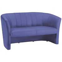 Trexus Reception Twin Seat Fabric Tub Sofa - Blue
