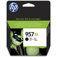 HP 957XL High Yield Black Ink Cartridge
