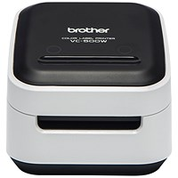 Brother VC500W Colour Label Printer, Wi-Fi Connectivity, White