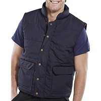 Click Workwear Quebec Bodywarmer, XXL, Navy Blue