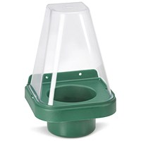 Click Medical Single Eyewash Stand with Cover for 500ml Bottle - Green