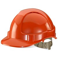 B-Brand Comfort Vented Safety Helmet - Orange