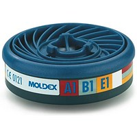 Moldex ABE1 7000/9000 Particulate Filter, EasyLock System, Blue, Pack of 5