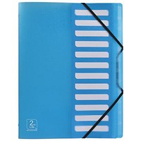 Elba 2nd Life Recycled Sorter / 12-Part / A4 / Blue