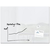 Sigel Artverum Tempered Glass Whiteboard, Magnetic, W1200x900mm, Super White