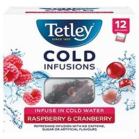 Tetley Cold Infusions Raspberry and Cranberry - Pack of 12
