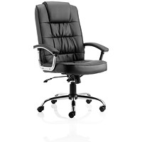 Trexus Moore Leather Deluxe Executive Chair, Black