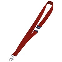 Durable Necklace with Safety Closure / Wide Width / 440mm / Red / Pack of 10
