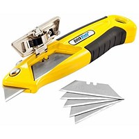 Pacific Handy Cutter Auto Loading Retractable Knife, Ergonomic, Yellow