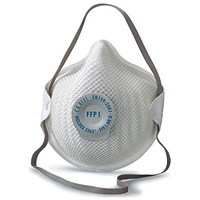 Moldex FFP1V Half Mask with ActivForm Seal and DuraMesh Shell, White, Pack of 20