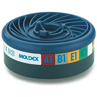 Moldex Abek1 7000/9000 Particulate Filter, EasyLock System, Blue, Pack of 5