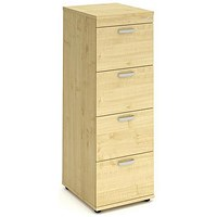 Trexus Foolscap Filing Cabinet, 4-Drawer, Maple