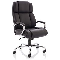 Sonix Texas Leather Executive Heavy Duty Chair, Black