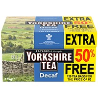Yorkshire Tea, Decaffeinated - Pack of 120