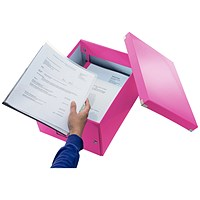 Leitz Click & Store Medium Storage Box for A4 - Pink