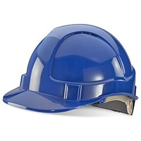 B-Brand Wheel Ratchet Vented Safety Helmet - Blue