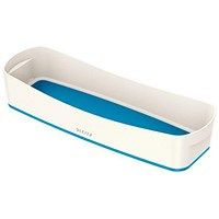 Leitz MyBox Long Organiser Tray - White & Blue
