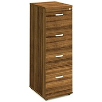 Trexus Foolscap Filing Cabinet, 4-Drawer, Walnut