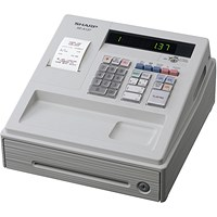 Sharp XE-A137 Cash Register Thermal Print 200PLUs 8-departments Black Ref XEA137BK