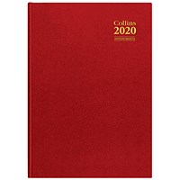 Collins 2020 Appointment Desk Diary, Day to a Page, A4, Random colour