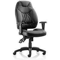 Sonix Galaxy Leather Task Operator Chair, Black