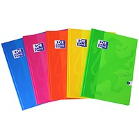 Oxford Soft Touch Casebound Notebook, A4, Assorted Colours, Pack of 5