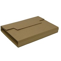 Rigid Corrugated Postal Wrapper, Small, 250x180x50mm, Brown, Pack of 25