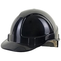 B-Brand Wheel Ratchet Vented Safety Helmet - Black