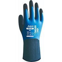 Wonder Grip Water resistant Gloves, Medium, Blue, Pack of 12