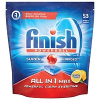 Finish Powerball Dishwasher Tablets All-in-1 / Lemon sparkle / Pack of 53