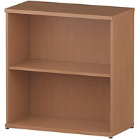 Trexus Low Bookcase, 1 Shelf, 800mm High, Beech
