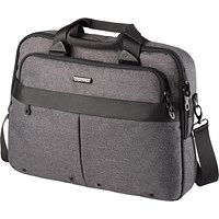 Lightpak Wookie Laptop Bag, Polyester, Capacity 17in, Grey