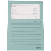 Leitz A4 Window Folder, 160gsm, Light Blue, Pack of 100