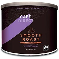 Cafe Direct Smooth Roast Freeze Dried Medium Roast Instant Coffee - 500g Tin