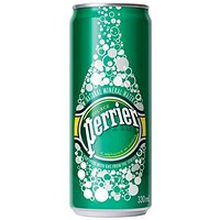 Perrier Sparkling Mineral Water - 35 x 250ml Cans