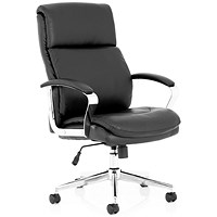 Trexus Tunis Leather Executive Chair - Black