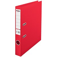 Rexel Choices A4 Lever Arch File, Plastic, 50mm Spine, Red