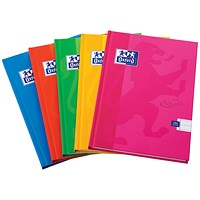 Oxford Soft Touch Casebound Notebook, A5, Assorted Colours, Pack of 5