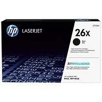 HP 26X High Yield Black Laser Toner Cartridge